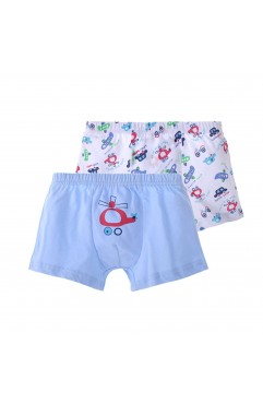 Boys Underwear Cotton Kids Boxer Brief Toddler Briefs 4 Pack (2-4 Years, Aircraft)
