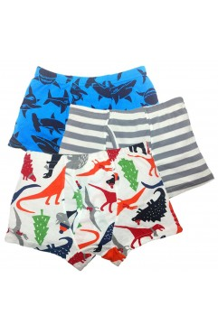 Boys Underwear Dinosaur Kids Boxer Briefs Cotton Underpants 3 Pack